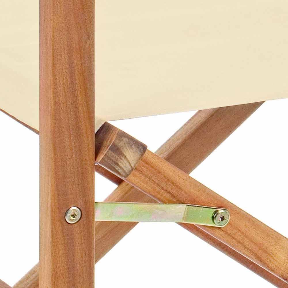 In Legno Wood Design direktörsstol i acacia wood för utomhusdesign för trädgård - roxen