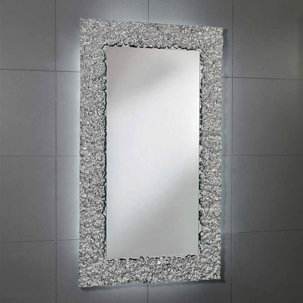 spegel med dekoration ram i modern design glas cecilia. Black Bedroom Furniture Sets. Home Design Ideas