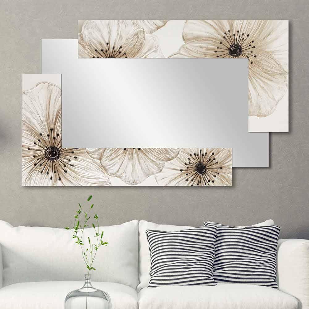 Pareti A Specchio Design väggspegel med dubbel elle gjord i italien sandblästrad design