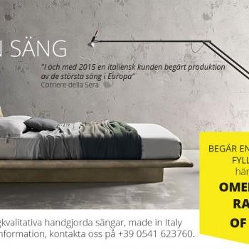 Begär din säng på Mätning - 100% Made in Italy