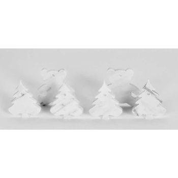 10 julgransdekorationer i vit Carrara marmor lyxig design - dekorationer
