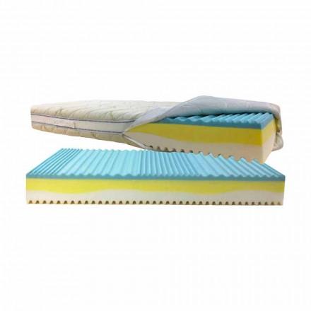 Enda madrass avtagbar mite Bio 3 till 7 zoner av hårdhet