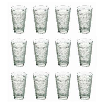 12 dekorerade genomskinliga glasdrycksglasögon för drycker - Marockobic