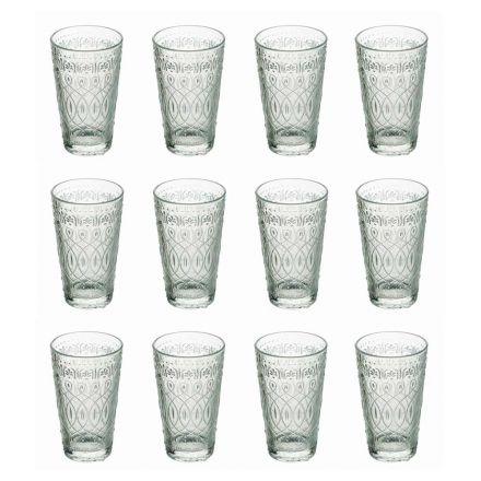 12 dryckesglasögon i dekorerat genomskinligt glas för drycker - marockobiskt