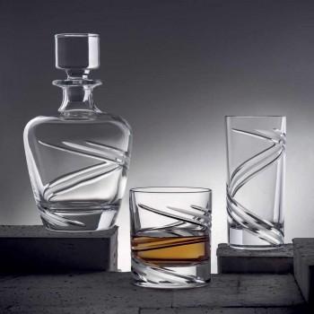 12 Tall Tumbler Cocktailglas i italiensk ekologisk kristall - cyklon