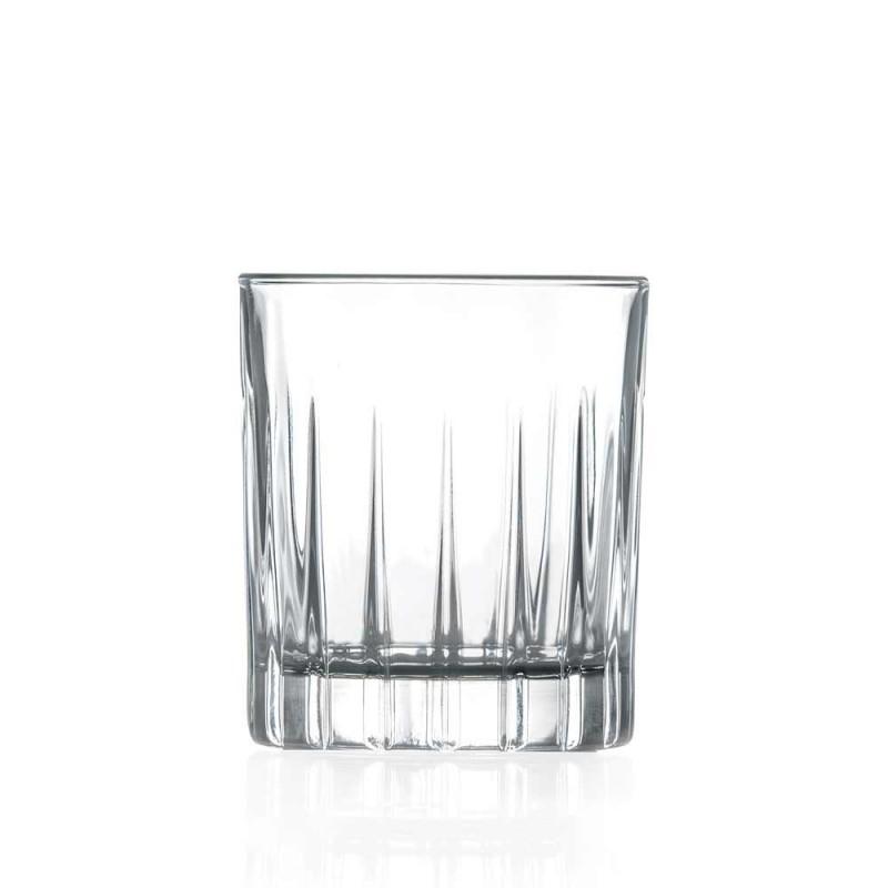 12 likörglasögon i ekokristall med linjära designdekorationer - Senzatempo