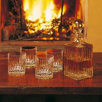 12 låga whiskyglas eller tumlarevatten i ekologisk kristall - Voglia