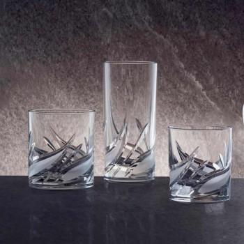 12 dubbel gammaldags tumlare glasögon med låg kristall - advent