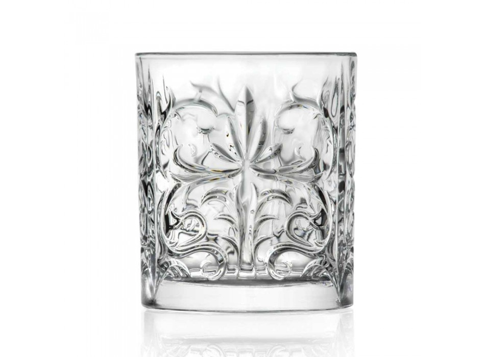 12 dubbla gammaldags glasögon i lyxig ekokristall - Destino