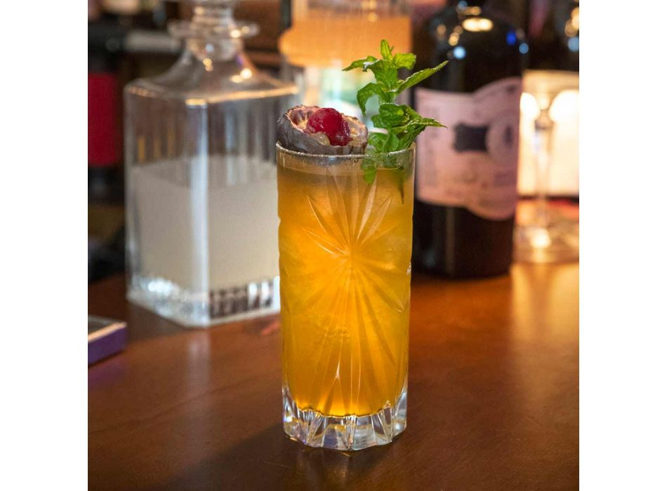 12 Highball Tumbler Tall Cocktailglasögon i Eco Crystal Design - Daniele