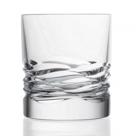 12 Crystal Glass Wave Decor för whisky eller Dof Tumbler Water - Titanium