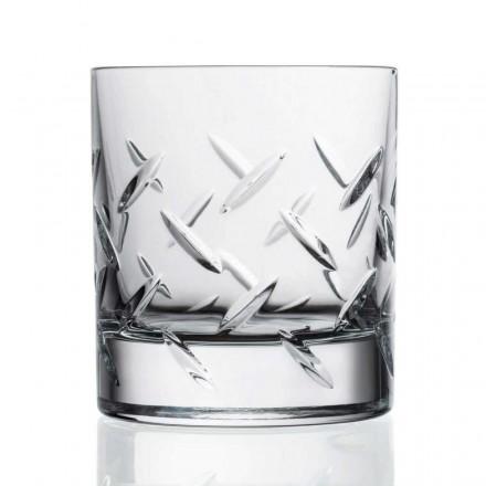 12 glas för whisky eller vatten i ekokristall med dyrbara dekorationer - arytmi