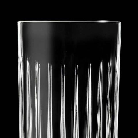 12 Tumbler Tall Highball-glasögon i dekorerad ekokristall - Senzatempo
