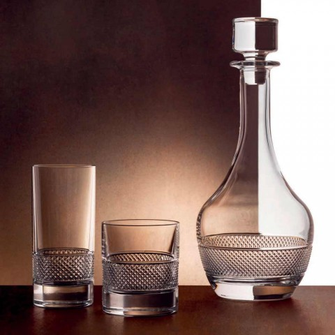 12 höga glasögon i lyxigt dekorerad ekologisk kristall - Milito