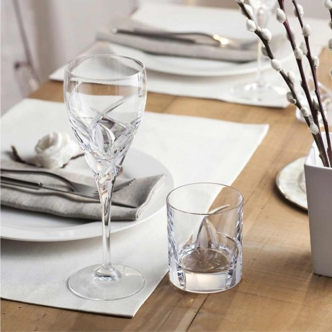 12 Low Tumbler-glasögon i Eco Crystal Luxury Design - Montecristo