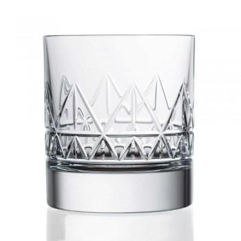 12 glas whisky eller vatten lyxig modern design i kristall - arytmi