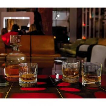 12 whisky- eller vattenglasögon i ekokristall dekorerad vintage design - taktil