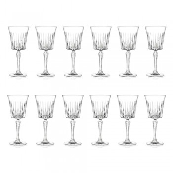 12 lyxiga ekologiska kristallvattencocktail vinglas - Senzatempo