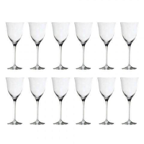 12 vita vinglas i ekologisk kristall minimal lyxdesign - slät
