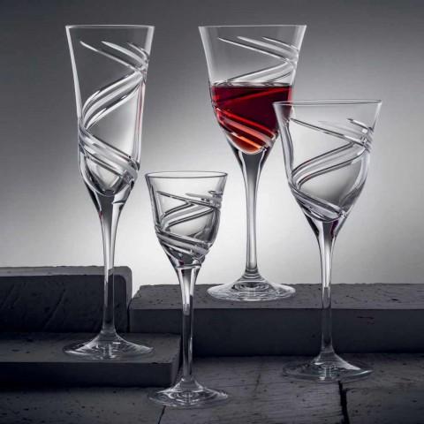 12 röda vinglas i ekologisk kristallblyfri lyx - cyklon