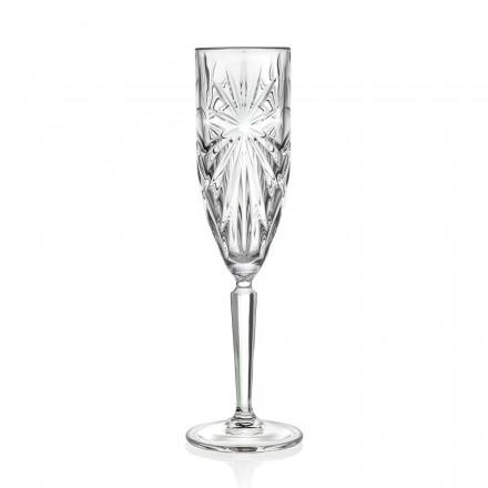 12 flöjtglas glas för Champagne eller Prosecco i Eco Crystal - Daniele