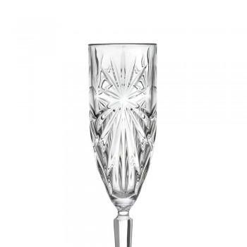 12 flöjtglas glas för champagne eller prosecco i Eco - Daniele Crystal