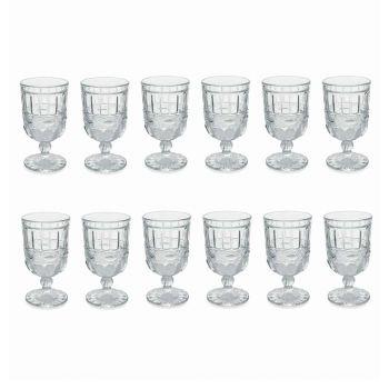 12 genomskinliga och dekorerade glasbägare till julbordet - Garbobic
