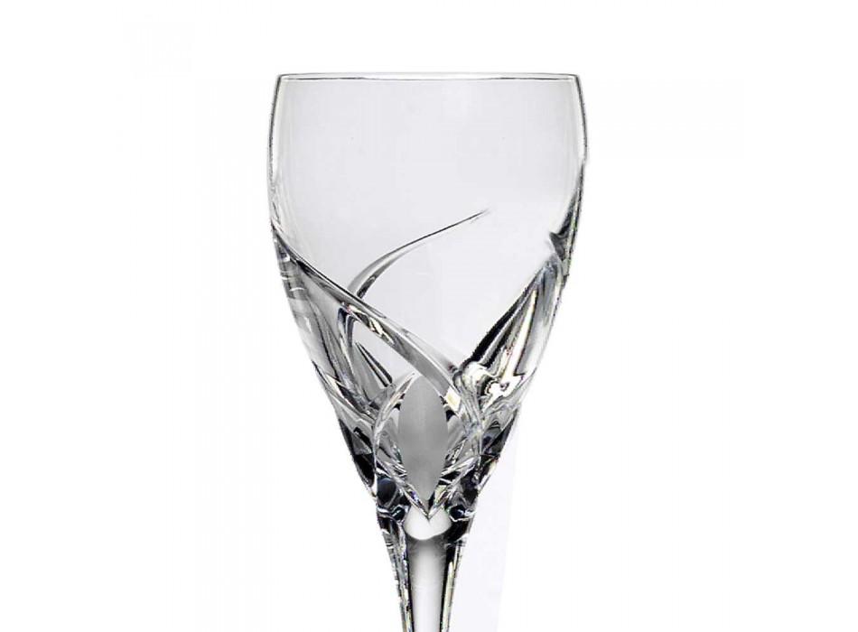 12 lyxdesignade vinprovningsglasögon i Eco Crystal - Montecristo