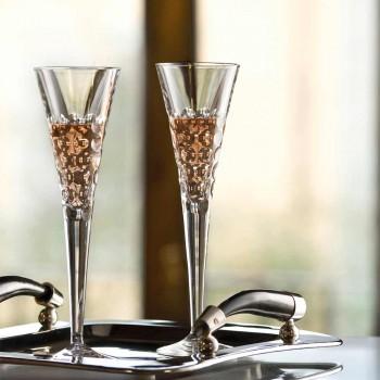 12 vinglas fluterglas för kristallbubblor - Titanioball