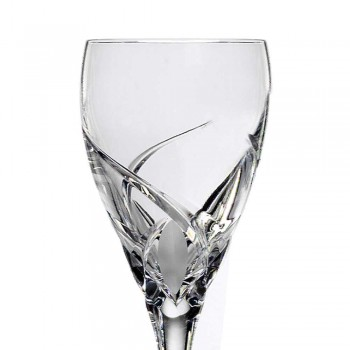 12 röda vinglas i ekologisk kristall lyxdesign - Montecristo