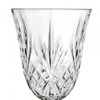 12 glas vin, vatten, cocktail i ekologisk kristall vintage stil - Cantabile