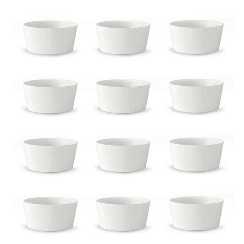 12 Modern design vit porslinglass eller fruktkoppar - Egle
