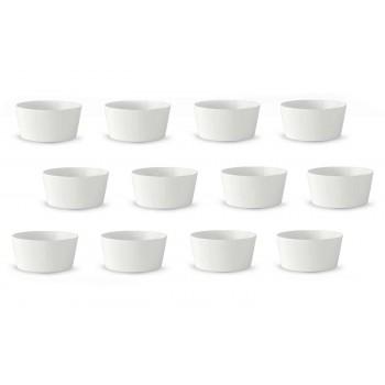 12 Vit porslinsglass eller fruktkoppar med modern design - Egle