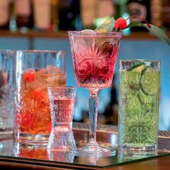 12 Tumbler Tall Highball Cocktailglas eller lyxigt dekorerat vatten - Destiny