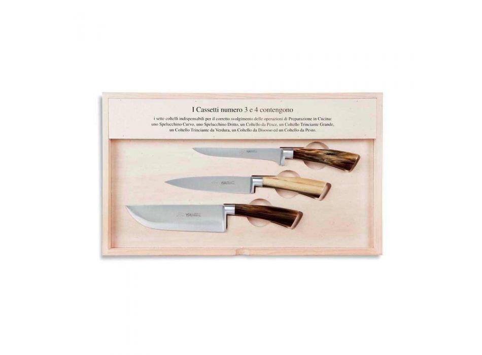 14 knivar Komplett Berti-fodral exklusivt för Viadurini - Canaletto