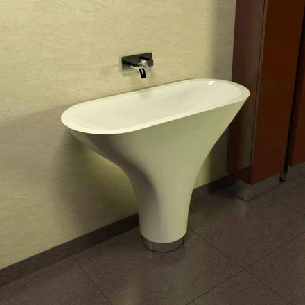 Contemporary design piedestal sink Flundra tillverkad i Italien