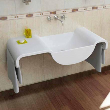 Modernt design vit handfat Våg gjord i Italien