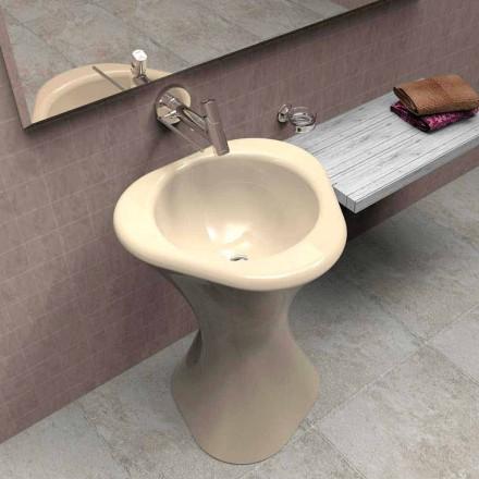 Modern design piedestal sink Twister gjord i Italien