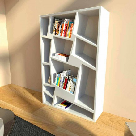 Modern bokhylla av grön, röd eller vit Christie design