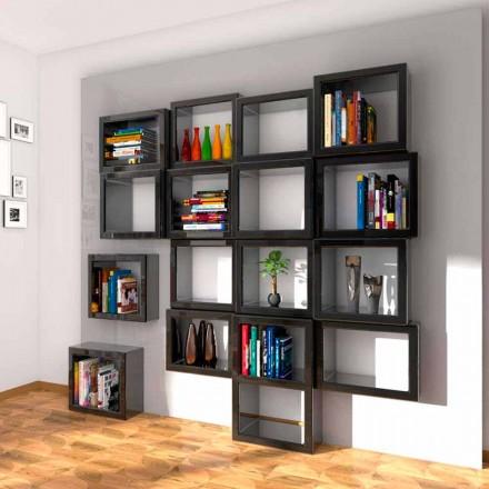 Designvägg bokhylla Fra011 Gjord i Italien