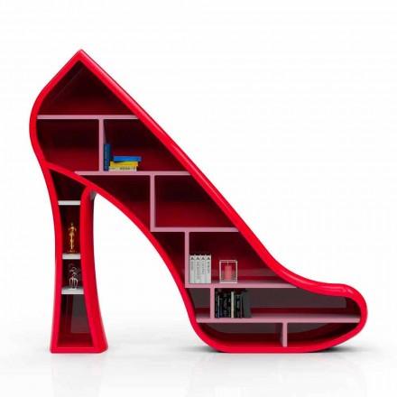 Modern design bokhylla i Solid Surface Lady gjord i Italien