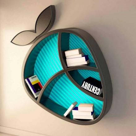 Modern designhylla Poppy Book Viadurini Design gjord i Italien