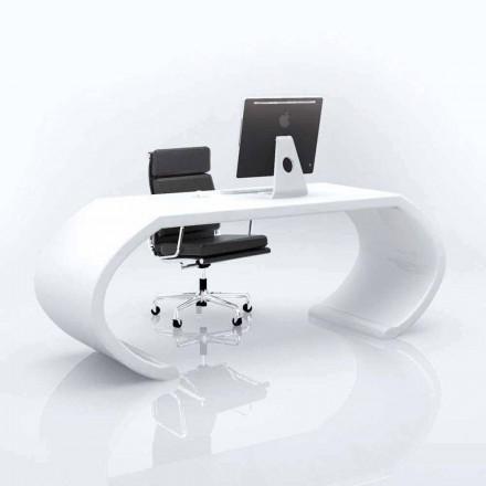 Modernt design skrivbord Adams, tillverkat i Italien