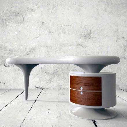 Modernt skrivbord i vitt, rött eller svart böna