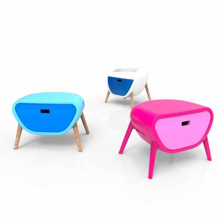 Moderna sängbord Design Little Gauche Made in Italy