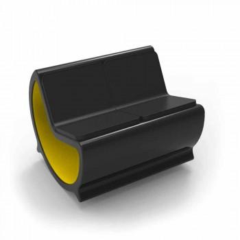 2 sittplatser Rocking Sofa Design Moon Made in Italy