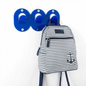 2 hängare med tre väggar i färgad plexiglasklämdesign - Freddie