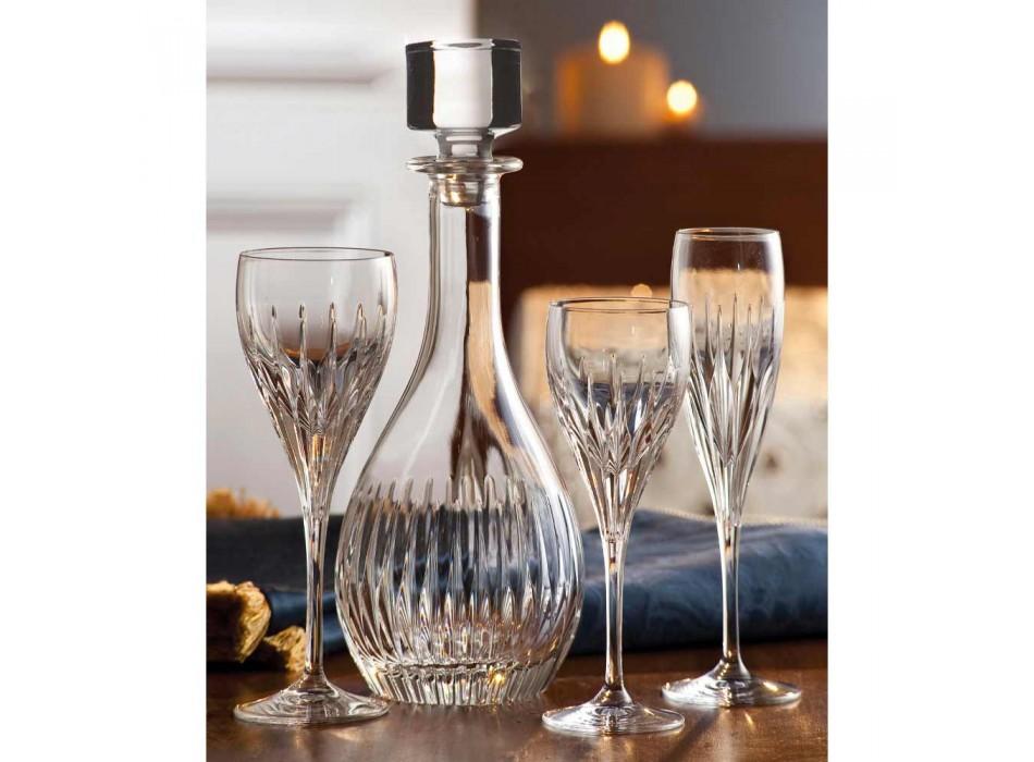 2 vinflaskor med ekologisk kristallhandmalad italiensk lyx - önskan