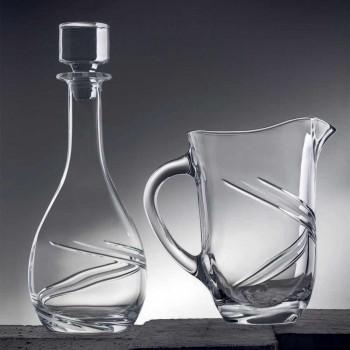 2 vinflaskor och lyxigt handdekorerat ekokristallock - cyklon