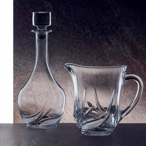 2 ekokristallvinflaskor med rund designlock och dekorationer - advent